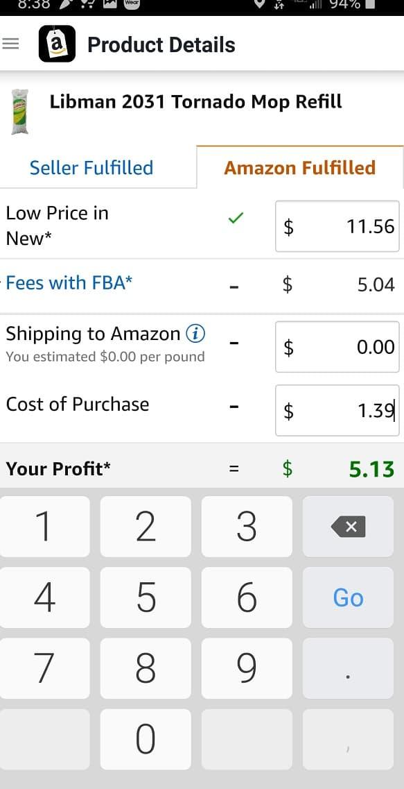 Amazon FBA App Calculator