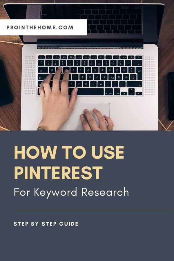 Guide to Using Pinterest  forKeyword Research